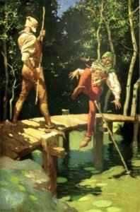 ROBIN DES BOIS. dans Robin des bois little_john_and_robin_hood_by_frank_godwin2-198x300